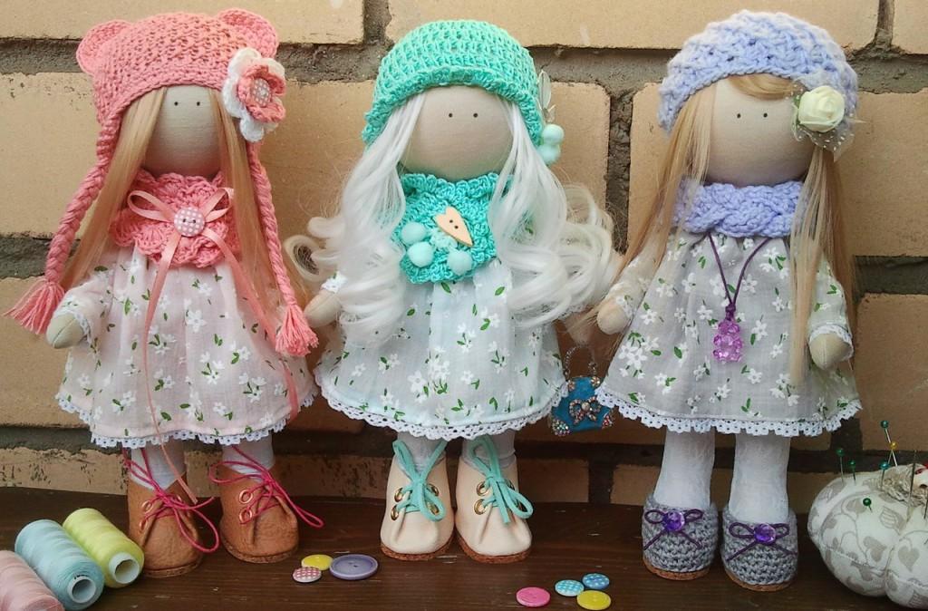 Текстильные куклы как сделать фото